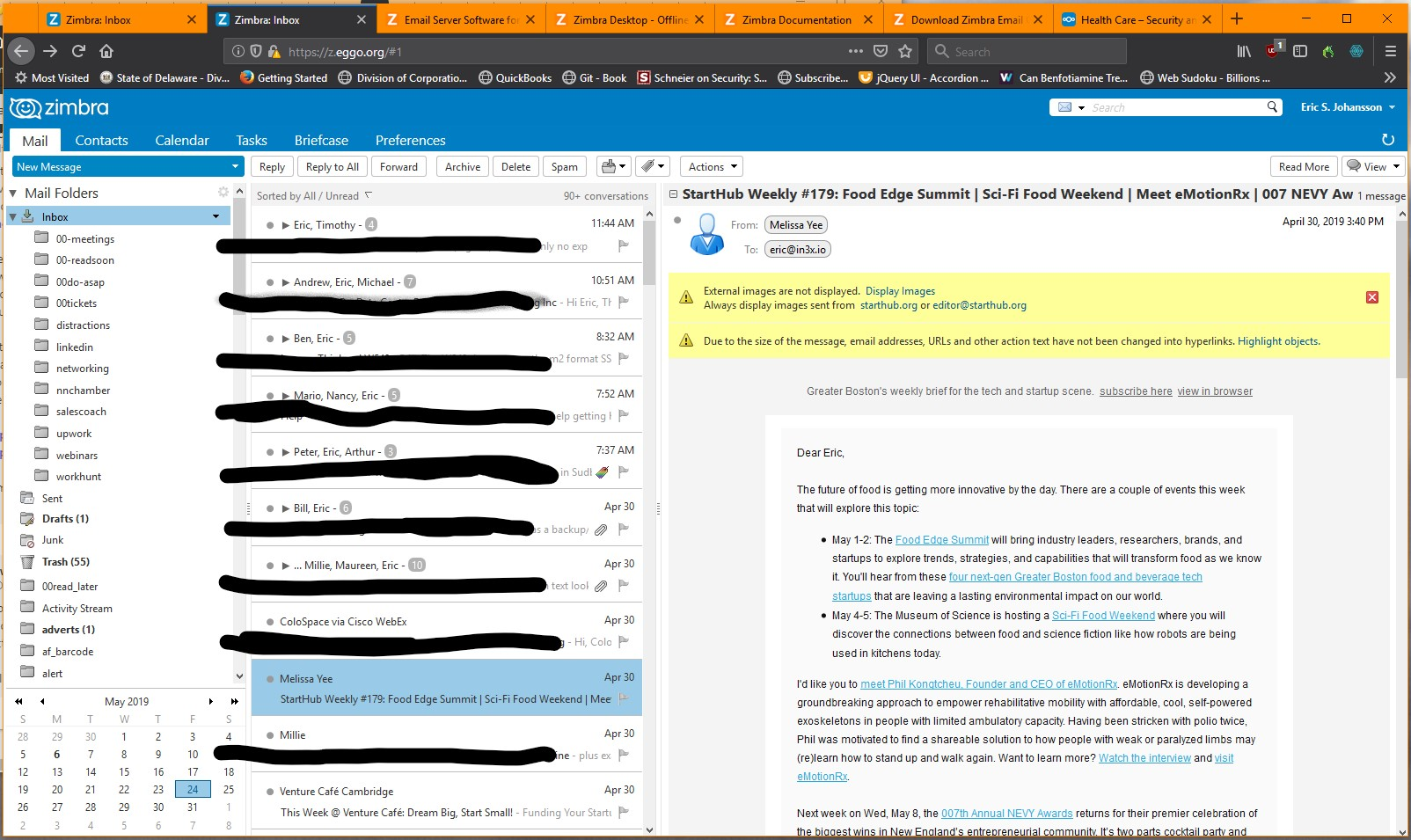 KnowBrainer Speech Recognition Forums - Zimbra email web